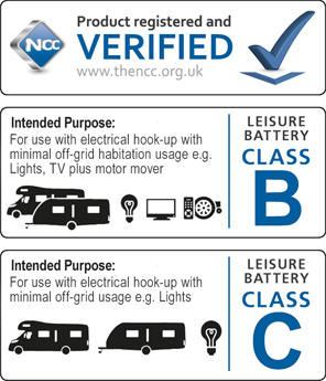 NCC Verified - Leisure Batteries Class B and C