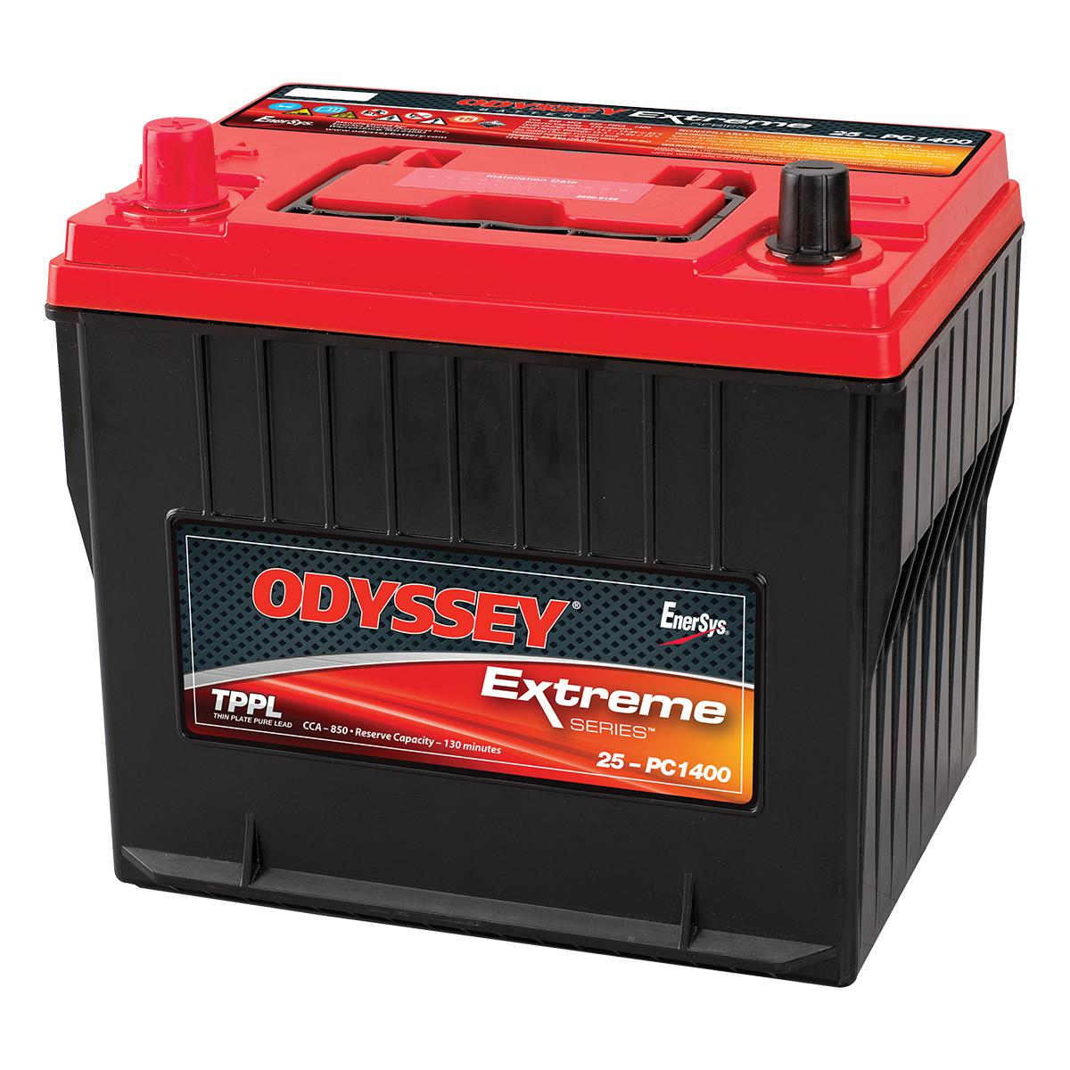 25 pc1400 odyssey 12v 65ah extreme series battery. Black Bedroom Furniture Sets. Home Design Ideas