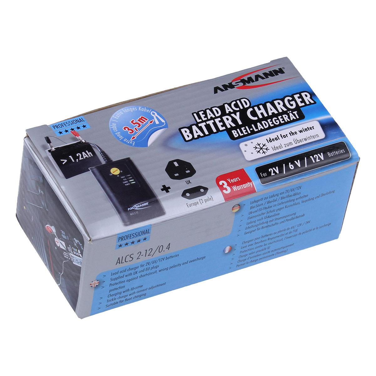 Ansmann Alcs2 12 04 Charger For 2v 6v And 12v Lead Acid Sla Batteries Sealed Battery Circuit Multi Buy Prices