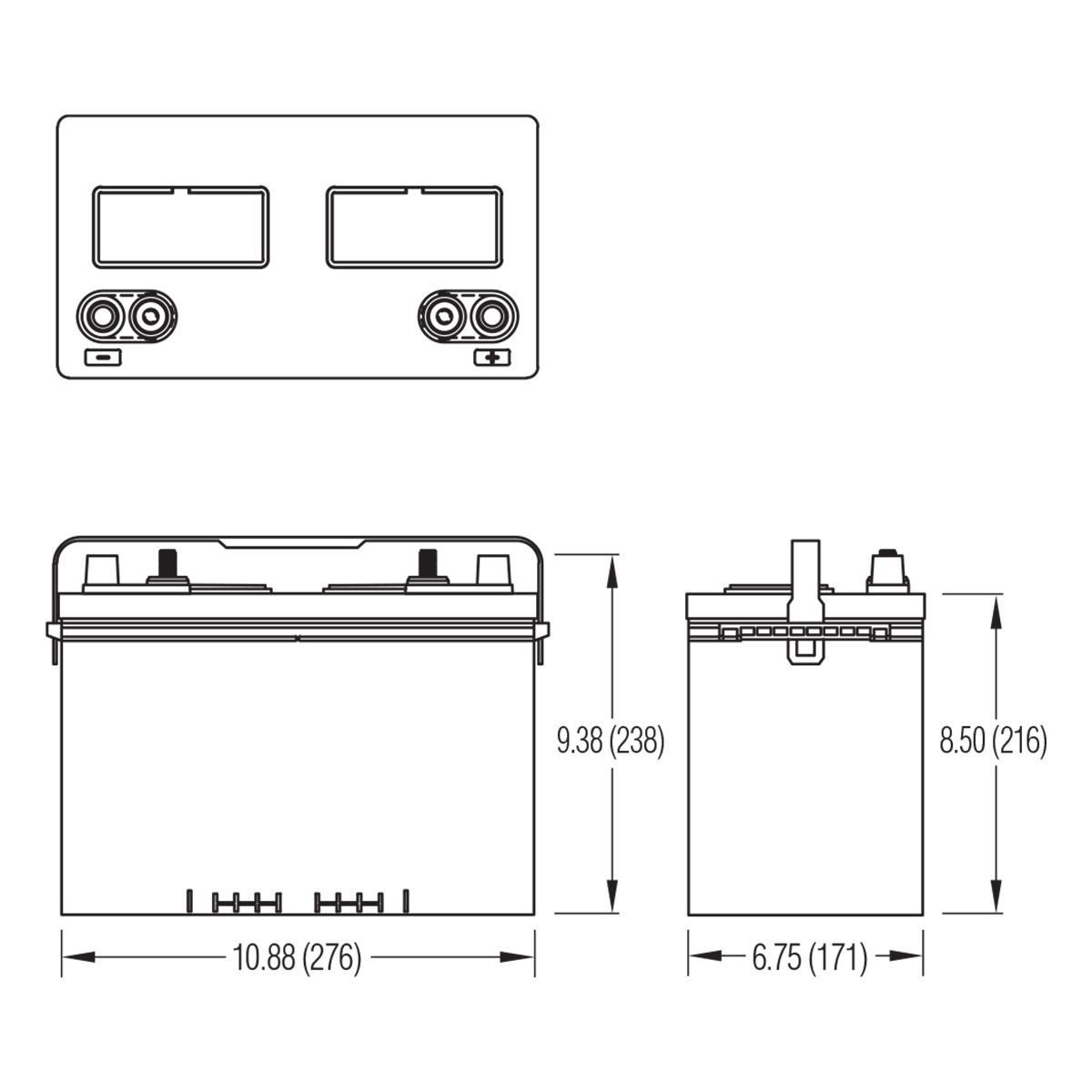 24dc95 crown 12v 95ah deep cycle battery. Black Bedroom Furniture Sets. Home Design Ideas
