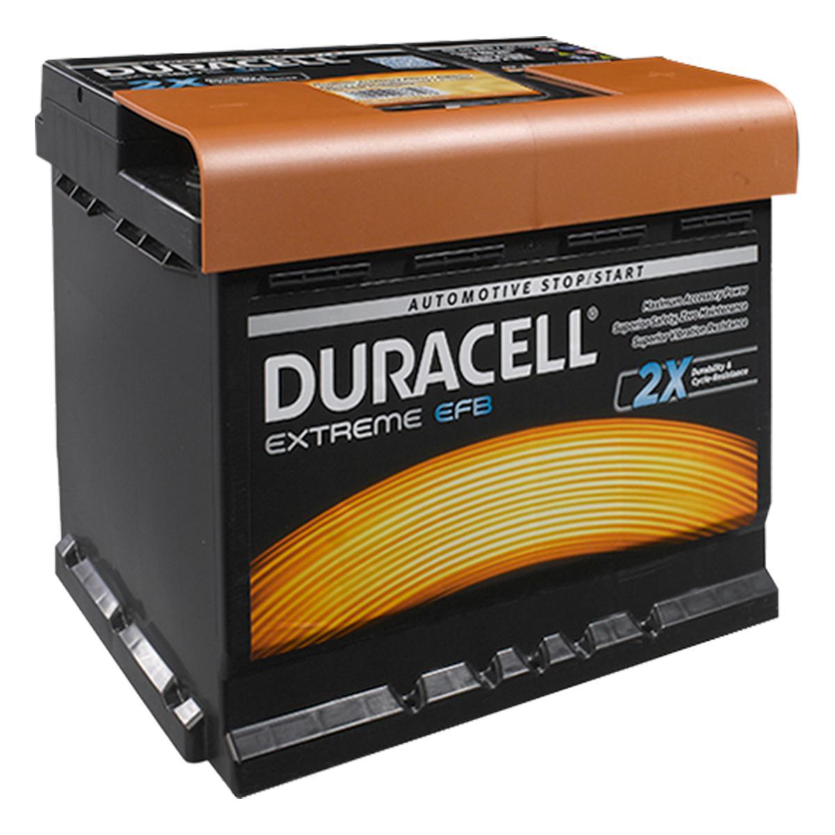 Duracell 027 / DE60 EFB Extreme Car Battery