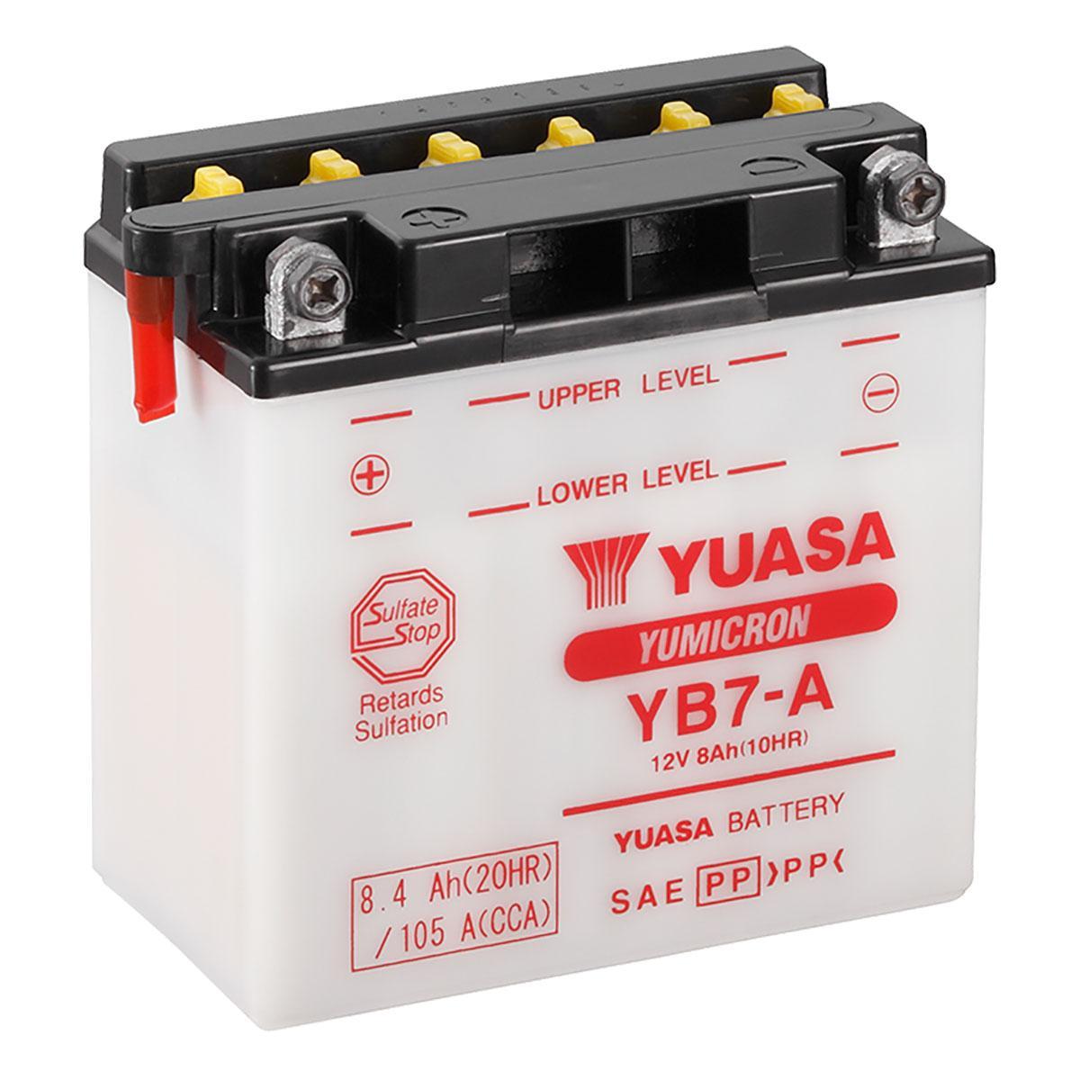 Yuasa Yb7 A 12v Motorbike Motorcycle Battery Www