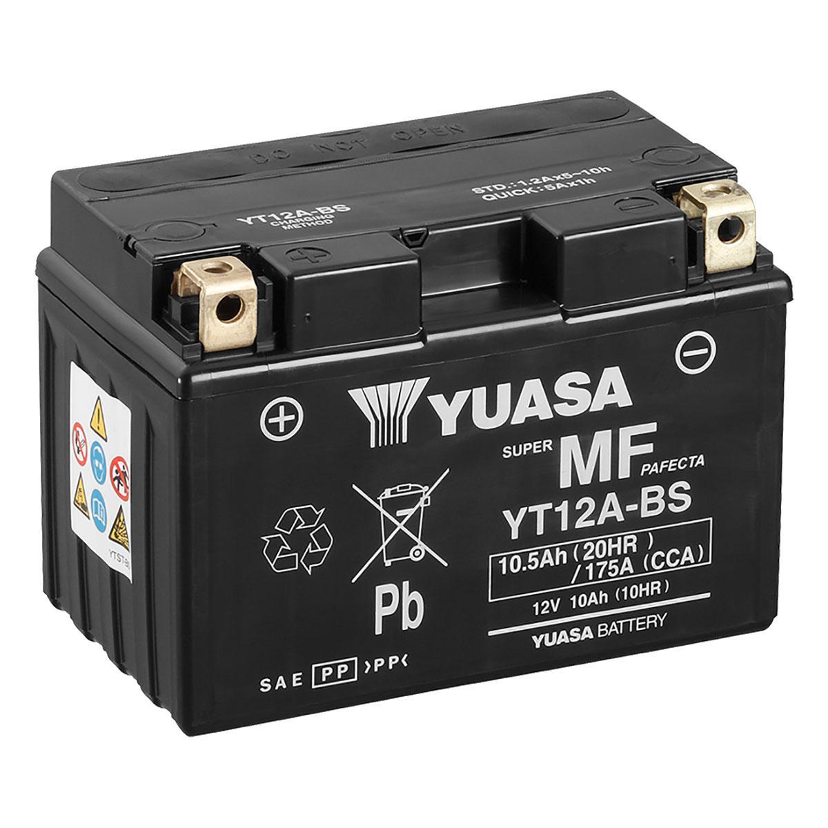 Yuasa Yt12a Bs 12v Vrla Motorbike Motorcycle Battery