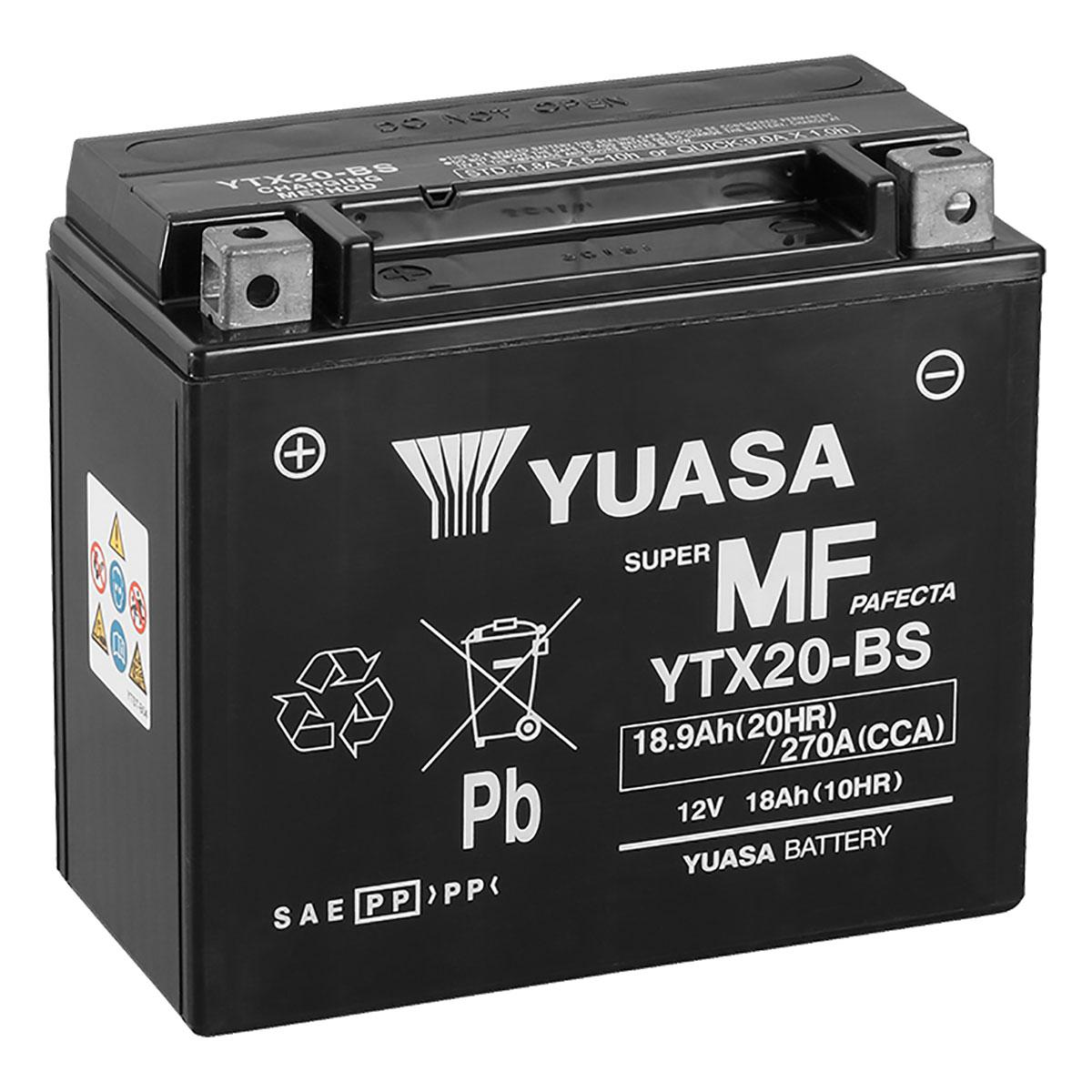 Yuasa Ytx20 Bs 12v Vrla Motorbike Motorcycle Battery