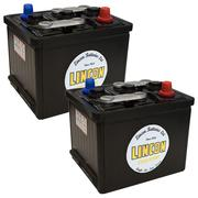 2 x 404 71Ah Hard Rubber Car Batteries 6v (Good)