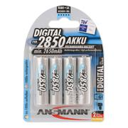 Ansmann AA 2850mAh Rechargeable NiMh Batteries - Pack Of 4